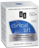 "AA Clinical Lift 50+ krem na noc 50 ml (data ważności <span class=""expire"">2019-01-30</span>)"