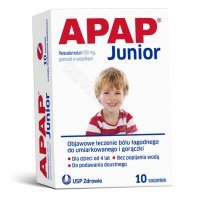 Apap junior 250 mg x 10 sasz