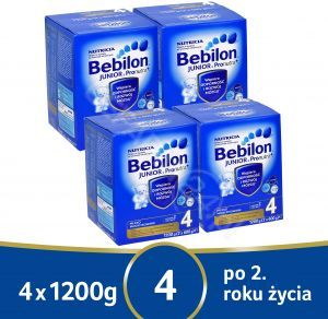 Bebilon junior 4 z pronutra+ w czteropaku - 4 x 1200 g