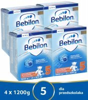 Bebilon junior 5 Pronutra ADVANCE w czteropaku 4 x 1200 g + mlekotorba GRATIS!!!