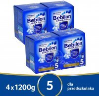 Bebilon junior 5 z pronutra+ w czteropaku - 4 x 1200 g