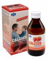 Calcium syrop truskawkowy 150 ml (butelka szklana)