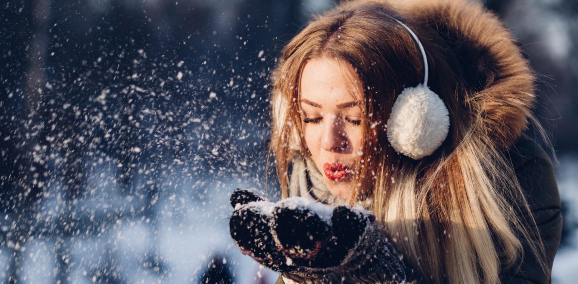 zgrabna sylwetka zimą
