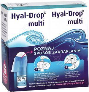 6efcdb5a04d738 Hyal-Drop multi - krople do nawilżania oczu i soczewek kontaktowych 2 x 10  ml (zestaw)