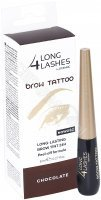 Long 4 Lashes Brow Tattoo - żelowy preparat do brwi peel-off 8 ml (chocolate)