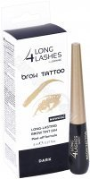 Long 4 Lashes Brow Tattoo - żelowy preparat do brwi peel-off 8 ml (dark)