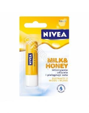 Nivea lip care - pomadka ochronna milk&honey 1szt