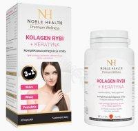 Noble health Kolagen rybi + Keratyna x 60 kaps