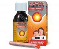 Nurofen dla dzieci forte zawiesina 40 mg/ml o smaku truskawkowym 100 ml