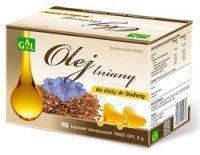 Olej lniany do diety dr Budwig x 40 kaps twist-off (Gal)