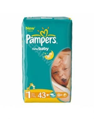 Pampers new baby newborn 2-5kg x 43 szt