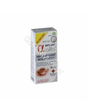 Płyn do płukania ust alfa implant care 200 ml