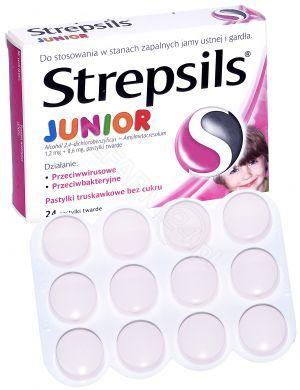 67a50d88d Strepsils junior x 24 pastylki do ssania o smaku truskawkowym ...